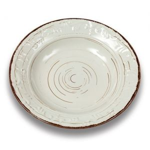 Stoneware plate for soup