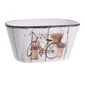 CERAMIC FLOWER POT BIKE 23.5X12.5X11.5